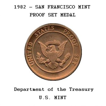 1982 - U.S. Proof Set Bronze Token - US Coins