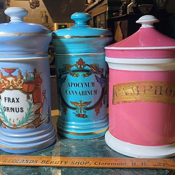 More Covered Apothecary Jars - Pottery