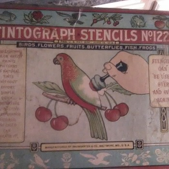 Early Tintograph Stencils - Toys