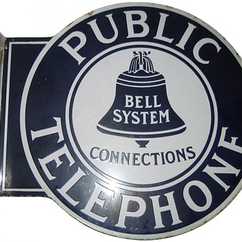 Bell System Large Round Connections Flange Sign - Signs