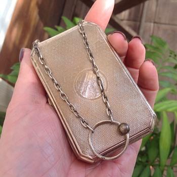 Ladies Silver Compact and Cigarette Case - Tobacciana