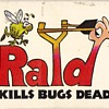 "RAID ""Kills Bugs Dead"" 2-deck playing cards - box art"