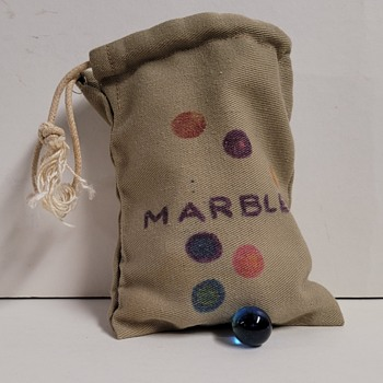 Marbles and Bag - Art Glass