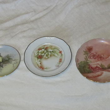 Painted plates by Celia Thaxter  - China and Dinnerware