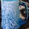 Blue & white pontil steins