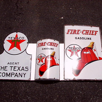 Matching Texaco Porcelain Signs