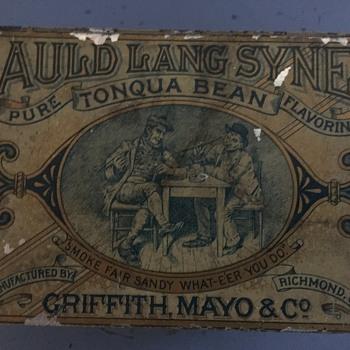 Auld Lang Syne Tobacco Tin  - Tobacciana