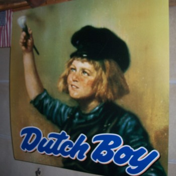 Dutch Boy paint sign - Advertising