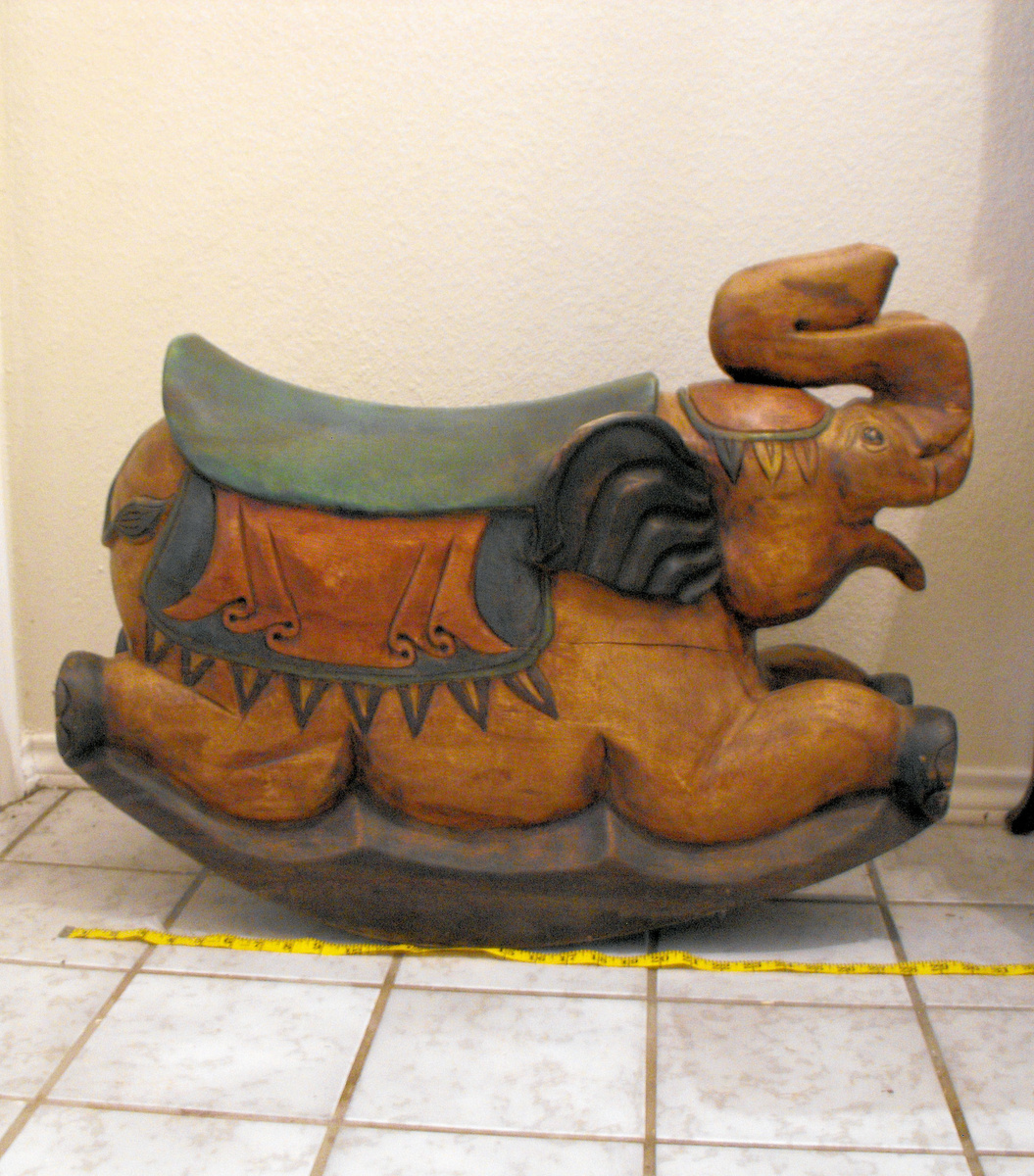 Solid Wooden Elephant Rocker Collectors Weekly