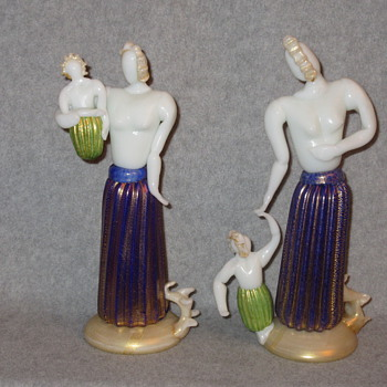 ERCOLE BAROVIER MOTHERHOOD FIGURINES  - Art Glass