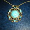 Art Nouveau pendant with chain.