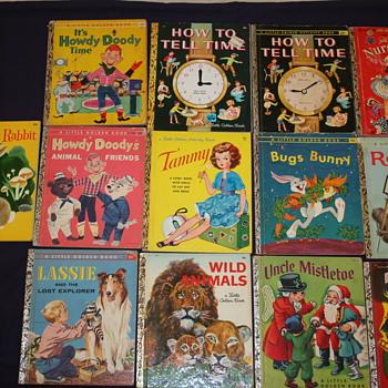 Variety of Little Golden Books