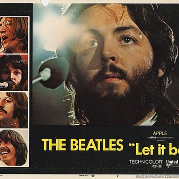 """Let It Be"" window card-1970 - Music Memorabilia"