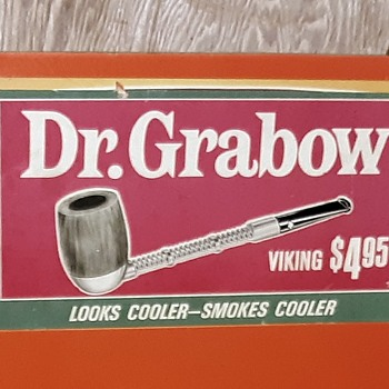 Vintage Dr. Grabow Viking Pipe Display Post 1954 - Advertising