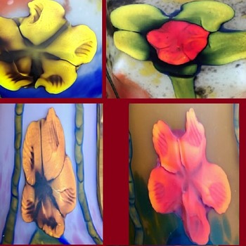 Marquetry glass - Volume 4 - Pressed flowers - Art Glass