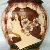 Amphora (or similar Teplitz Pottery) Maiden Vase