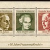"""1969 - W. Germany - """"Women's Suffrage"""" Souvenir Sheet"""