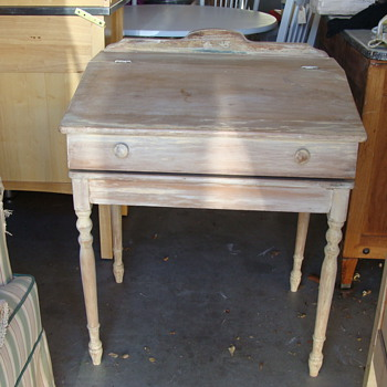 childs slant top desk with scroll inserted  - Furniture