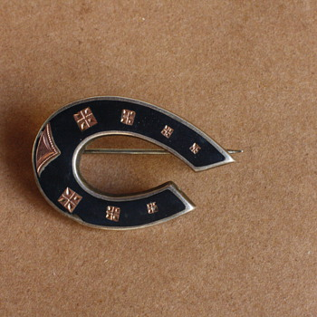 Victorian silver and gold horseshoe brooch - Fine Jewelry
