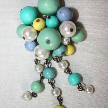 Beaded brooch - Costume Jewelry