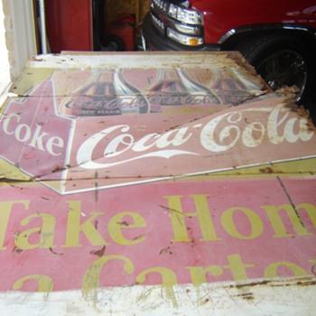 5'x8'   3 panel tin   - Coca-Cola