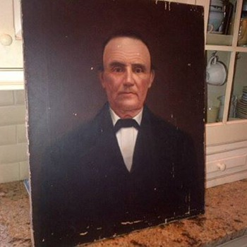 Antique oil painting on canvas~His name is Chuck