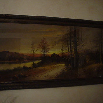 Chalk(?) Painting - Folk Art