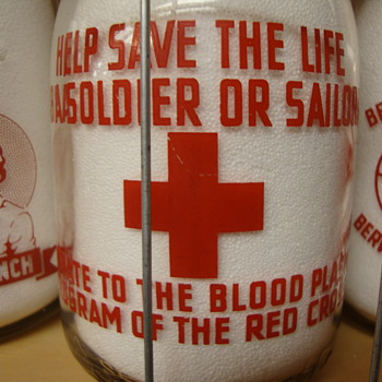 """HELP SAVE THE LIFE OF A SOLDIER OR SAILOR""....QUART MILK BOTTLE - Bottles"
