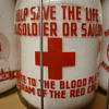 """HELP SAVE THE LIFE OF A SOLDIER OR SAILOR""....QUART MILK BOTTLE"