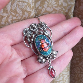 Arts and crafts enamel pendant  - Arts and Crafts