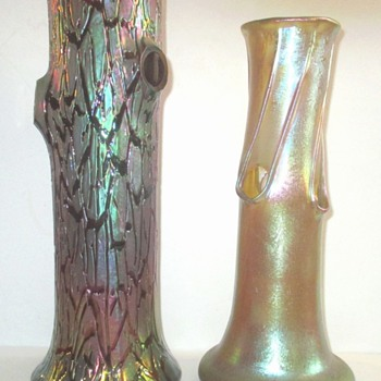 Rindskopf Crackle Glass. - Art Glass