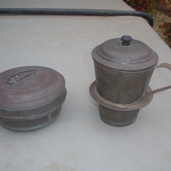 old metal something got at a yard sale got it because it interested me - Kitchen