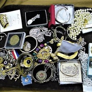 For Fun - Four Estate Jewelry Auction Lots I Won  - Good Surprises & Not So Good - Fine Jewelry