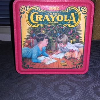 Crayola 1992 Holiday Wishes Tin Box - Advertising