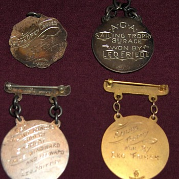 early American Canoe Association regatta medals - Sporting Goods