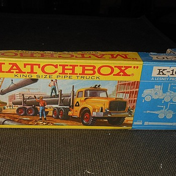 More Multiple Matchbox Monday K-10 Pipe Truck Box - Model Cars