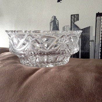 Cristall glass bowl