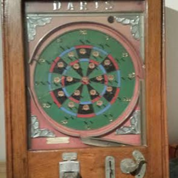 Old Penny Darts Pinball Machine  - Coin Operated