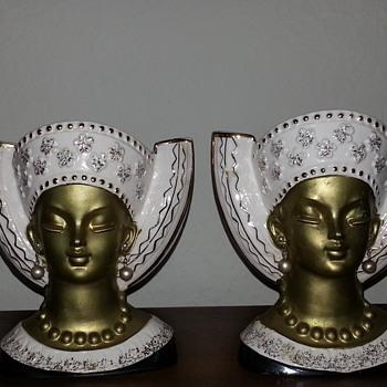Royal Sealy Headvases  - Mid-Century Modern