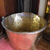 Brass bucket with handle