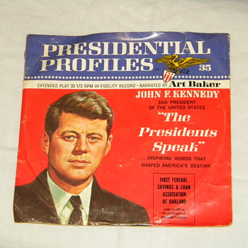 "1966 John F. Kennedy ""Presidental Profile"" Record - Advertising"