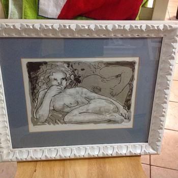 blue nude 2 picture  - Fine Art