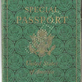 1944 US special passport - UNRRA