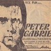 Peter Gabiel Concert Clippings Early 1980s