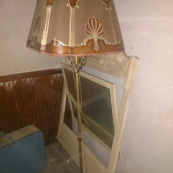 Anyone know anything about this beautiful vintage lamp and shade I just found? Thanks - Art Deco