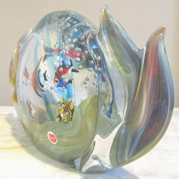 Murano Chalcedony(?) Aquarium - Art Glass