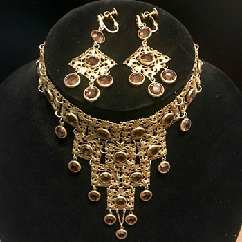 Costume Jewelry Vintage choker and earrings  - Costume Jewelry