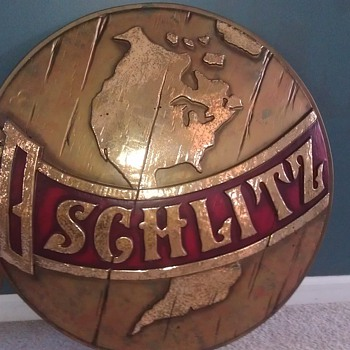 Large Schlitz Globe sign