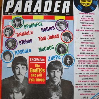 1965, 67, & 70  HIT PARADER MAGAZINES