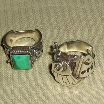Mexican sterling poison rings - Fine Jewelry